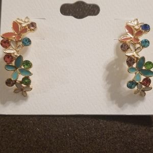 Beautiful Flower Earrings by Carol for Eva Graham